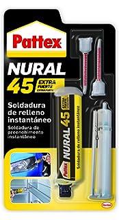 Pattex Nural 45, soldadura de relleno instantáneo, pega y rellena, 11 gr