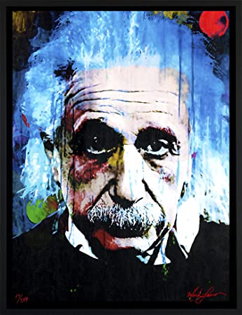 Mark Lewis Art Albert Einstein art prints wall decor – framed canvas art qt – Living ancestor of Cy Young the baseball legend