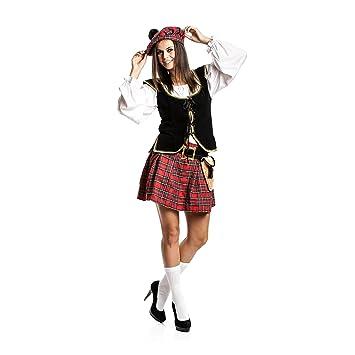 234e66796ce6 Kostümplanet Schotten-Kostüm Damen mit Mütze + Tasche sexy Schottin-Kostüm  Größe 40/42