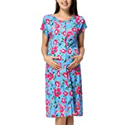 GRACE KARIN Labor and Delivery Maternity Hospital Gown Maternity Nursing Dress M