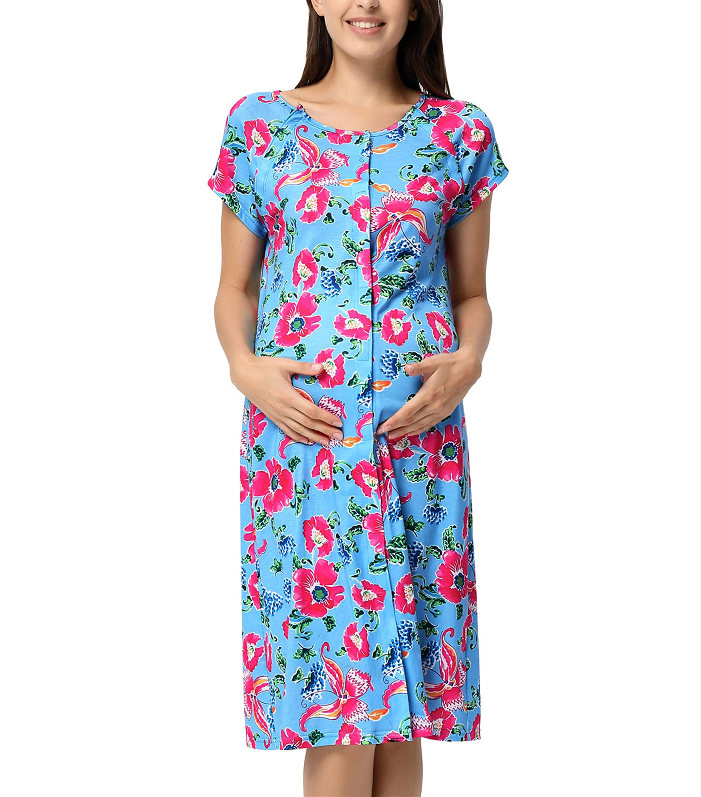 GRACE KARIN Labor and Delivery Maternity Hospital Gown Maternity Nursing Dress 2XL