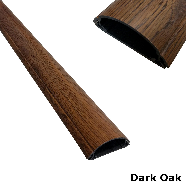 ChordSavers WallSaver Cord Cover - 1 Piece - (Dark Oak)