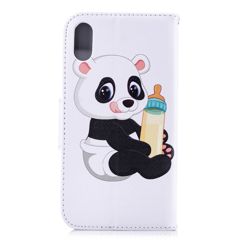 Felfy Kompatibel mit iPhone XR H/ülle Leder Flip Case Tasche Cover Bunt Muster PU Kunstleder mit Standfunktion und Kartenfach Brieftasche Handy H/ülle Schutzh/ülle,Elefant