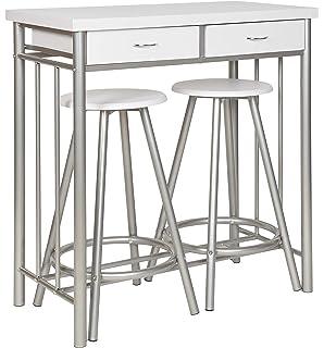 Sobuy® fwt39-w tavolo da pranzo, cucina, tavolino da bar, tavolino ...