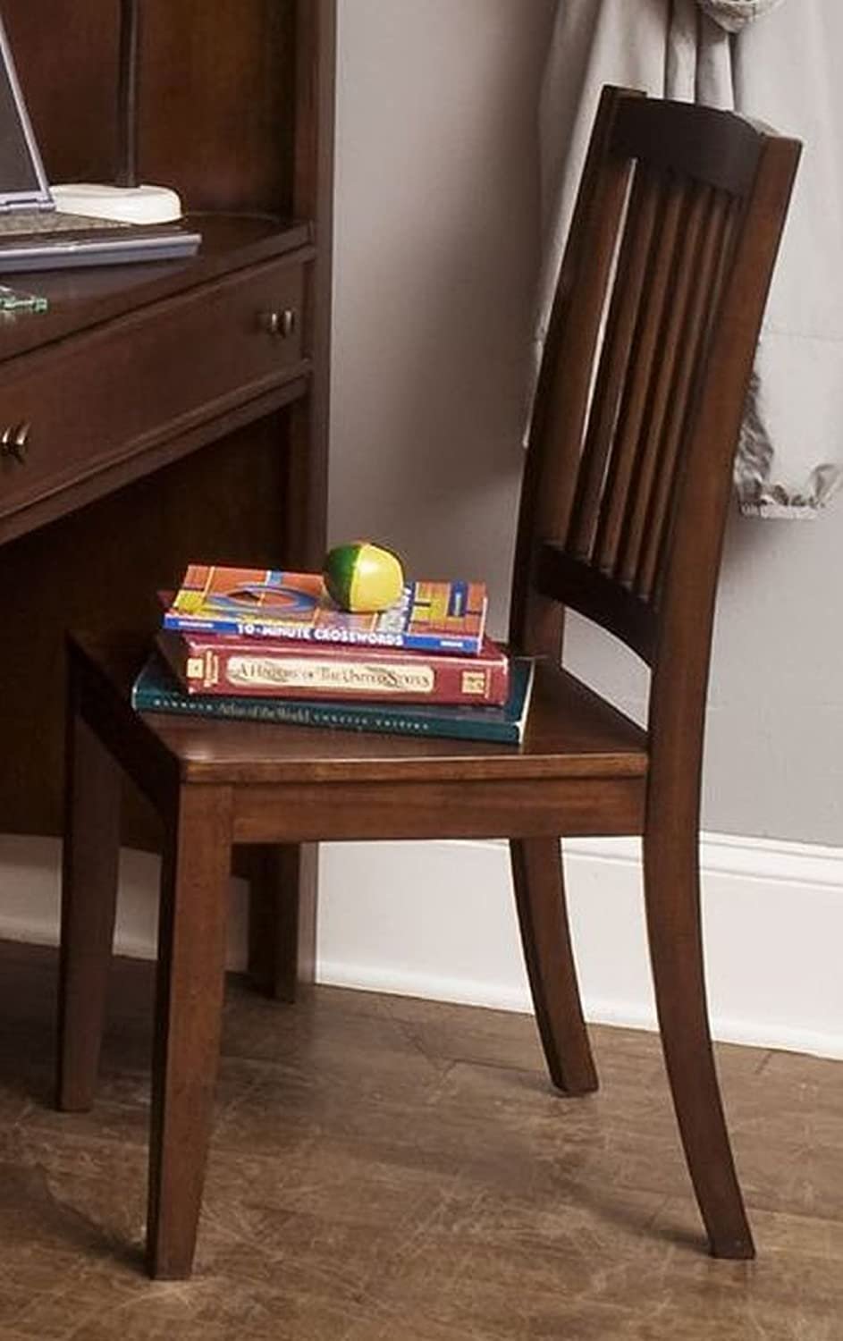 Amazon Liberty Furniture 628 BR195 Student Desk Chair RTA With Nylon Glides And Tapered Legs In Burnished Tobacco Finish Kitchen Dining