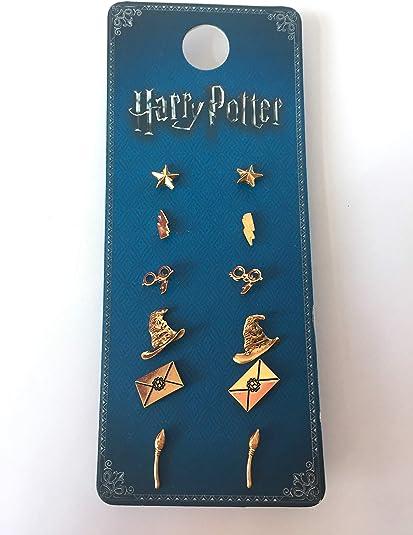 Harry Potter Pendientes primark Official 6 pares: Amazon.es: Joyería