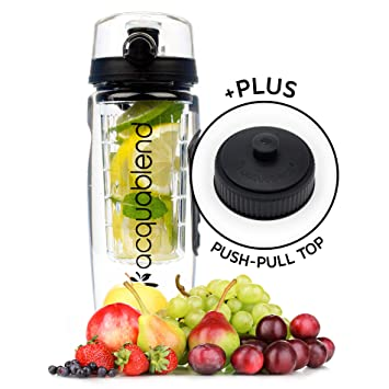 Acquablend Premium 900ml–Botella de agua con infusor para