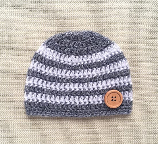 3b3e75001 Amazon.com: 0-6 Month Crochet Baby Hat Boy Hospital Newborn Beanie ...