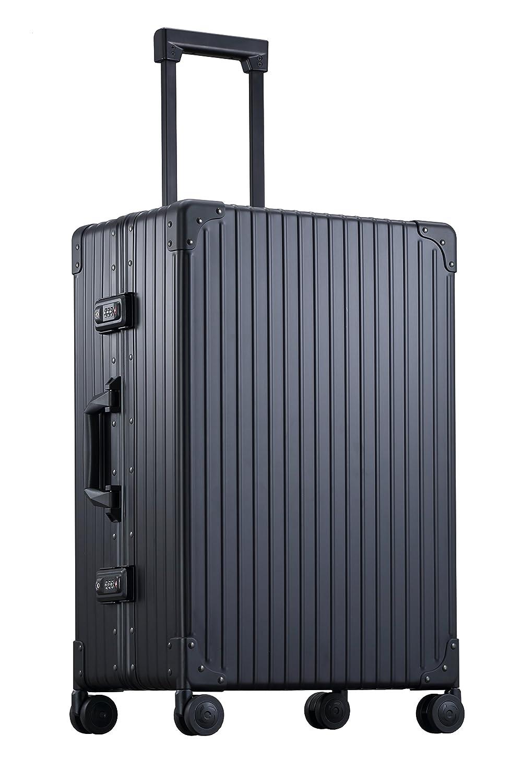 【アウトレット品】(NEO KEEPR) ネオキーパー 1年保証 TSAロック付 アルミ スーツケース クラシック キャリーケース 機内持ち込み 4輪 2輪 旅行 ビジネス B077ZK92YT Sサイズ(13泊向け 4輪 30L) ブラック ブラック Sサイズ(13泊向け 4輪 30L)