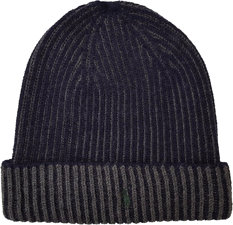 Polo Ralph Lauren Mens Lux Merino Plaited Cuff Hat
