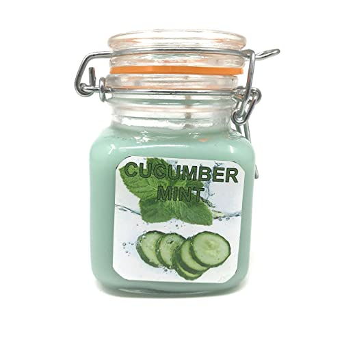 Fresh Cucumber Splashed with Mint! 2 Day Shipping 4 oz Travel Tin and 8 oz Candle Tin Mint Splashed Cucumber Soy Available in Wax Melt