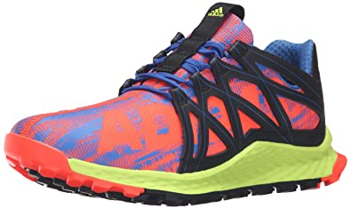 adidas Performance Men's Vigor Bounce M Trail Runner Blue/Black/Electricity New