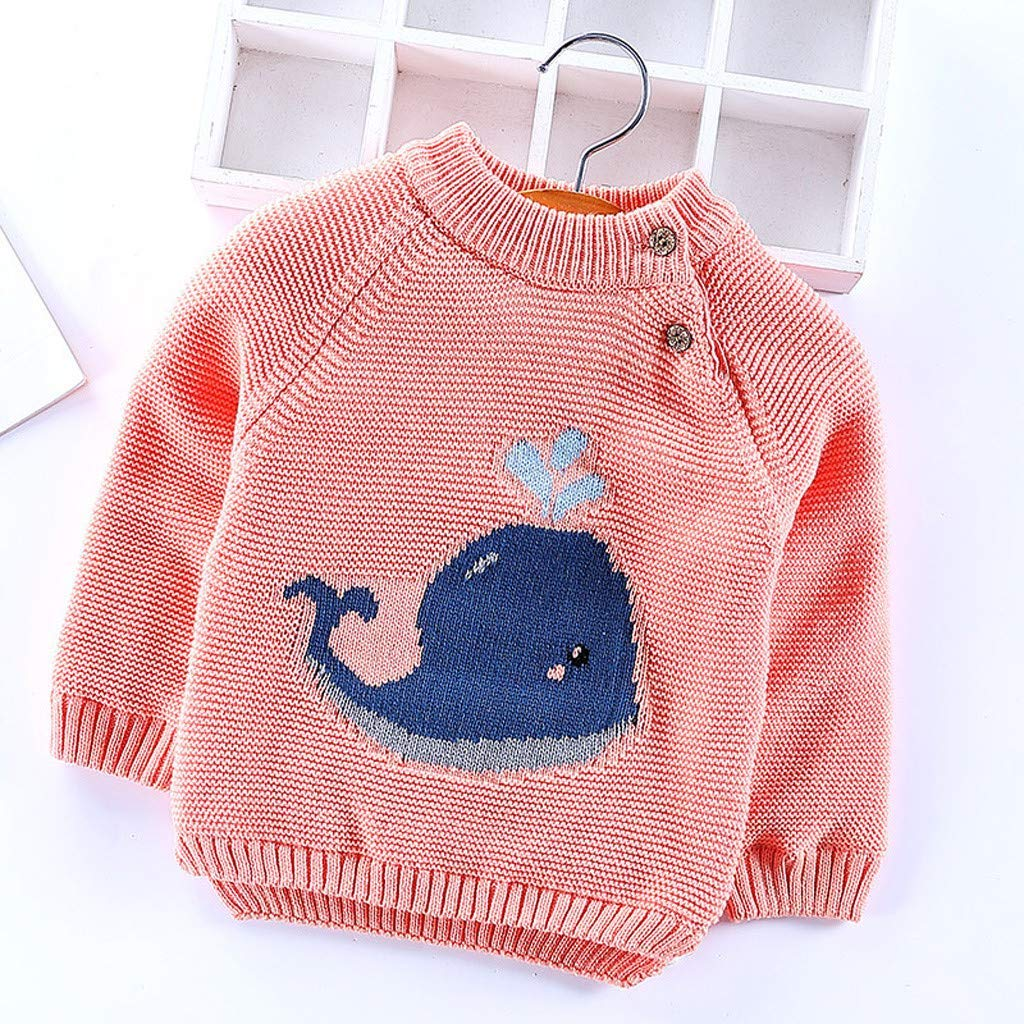 LYLIFE Infant Baby Girls Boys Sweater Fall Winter Clothes 1-4 Years Old Kids