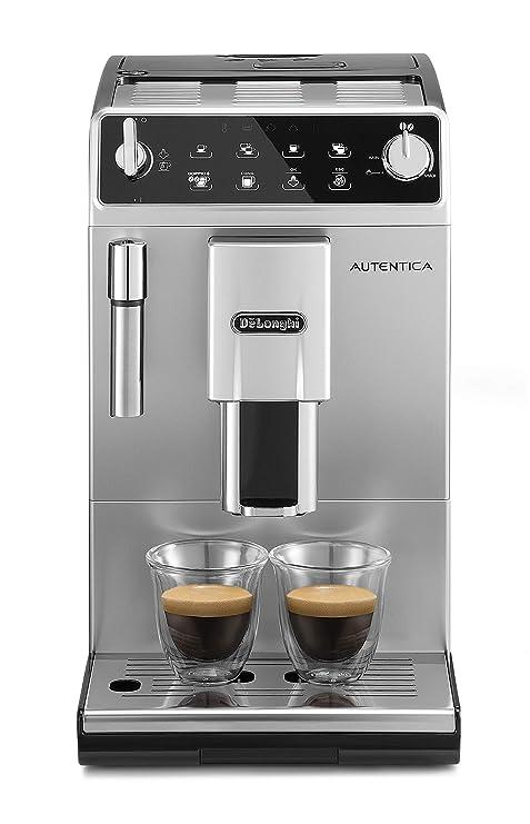 DeLonghi ETAM29.510.SB Cafetera súper automática, con panel táctil, 1450 W, 1.3 L, 15 bareses, acero inoxidable, plata