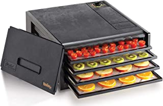 product image for Excalibur 2400 Electric Food Dehydrator with Adjustable Thermostat Accurate Temperature Control Faster & Efficient Drying, 4-Tray, Black