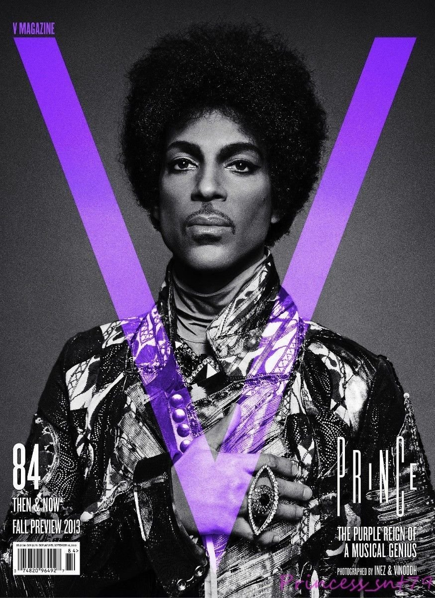 V MAGAZINE #84 FALL PREVIEW 2013, PRINCE ISSUE AND COVER.