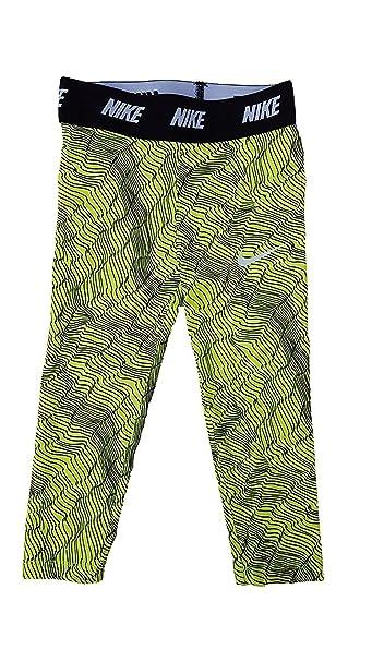 461bd6a53 Nike Little Girls Sport Essentials Printed Leggings (4T, Black/Volt/Black)