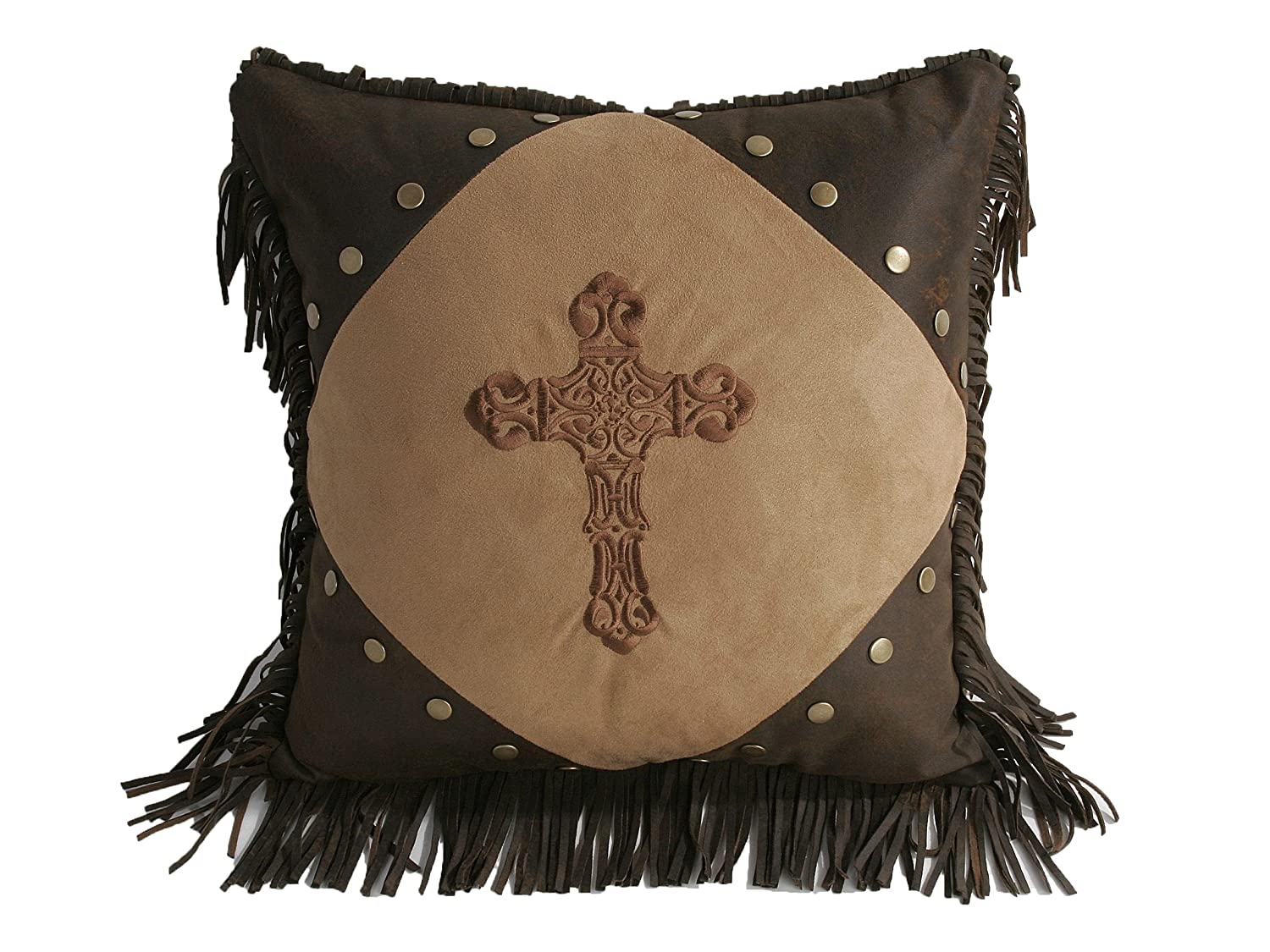 Diamond HomeMax Imports WS3182P5 HiEnd Accents Crosses Western Accent Pillow