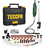 Mini Amoladora Eléctrica, TECCPO 200W Multiherramienta, 6 Velocidades Variables 40000 RPM Max, 120 Accesorios, con…