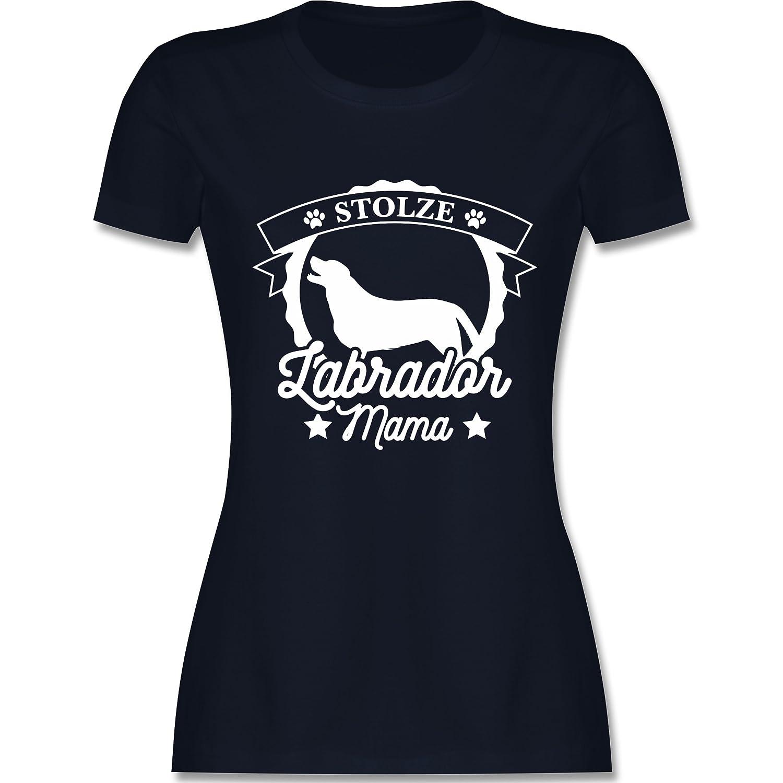 Hunde - Stolze Labrador Mama - Damen T-Shirt Rundhals: Shirtracer:  Amazon.de: Bekleidung