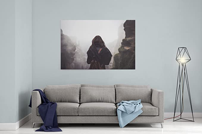 Amazon.com: Westlake Art Behind Woman - 16x24 Canvas Print ...