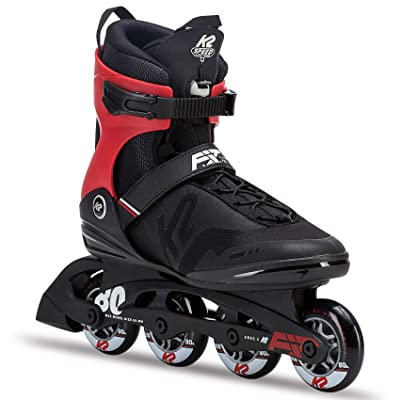 K2 Skate Men's F.I.T. 80 Pro Inline Skate, Black Red : Sports & Outdoors