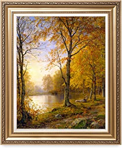 DECORARTS - 'Indian Summer', William Trost Richards; Classic Art. Giclee Prints Framed Art for Wall Decor. Framed Size: 30x36