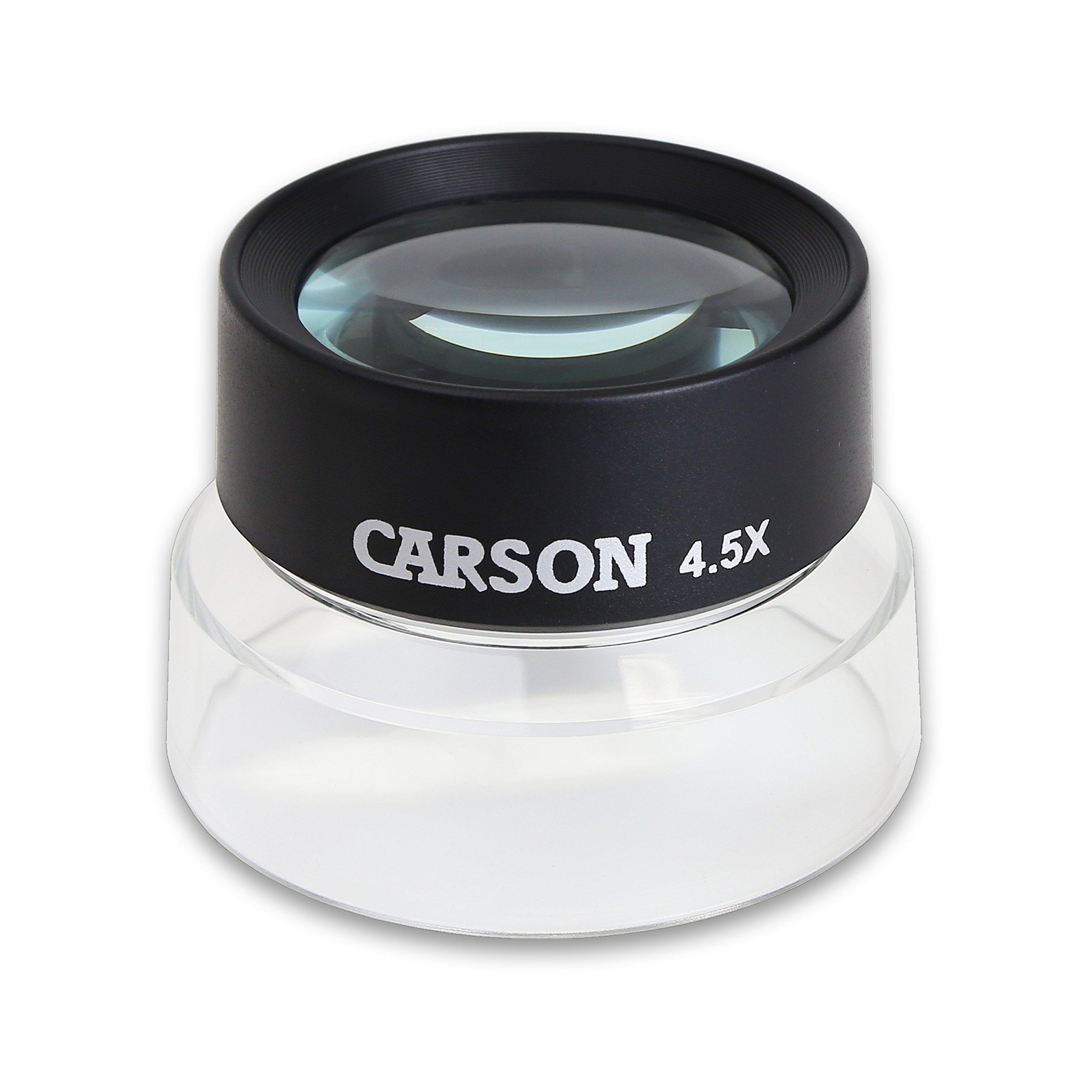 Carson LumiLoupe 4.5X Pre-Focused Stand Magnifier (LL-55)