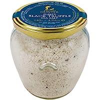 TruffleHunter Flaked Black Truffle Sea Salt (4.94 Oz) - European Black Summer Truffles (Tuber Aestivum) Seasoned Salt…