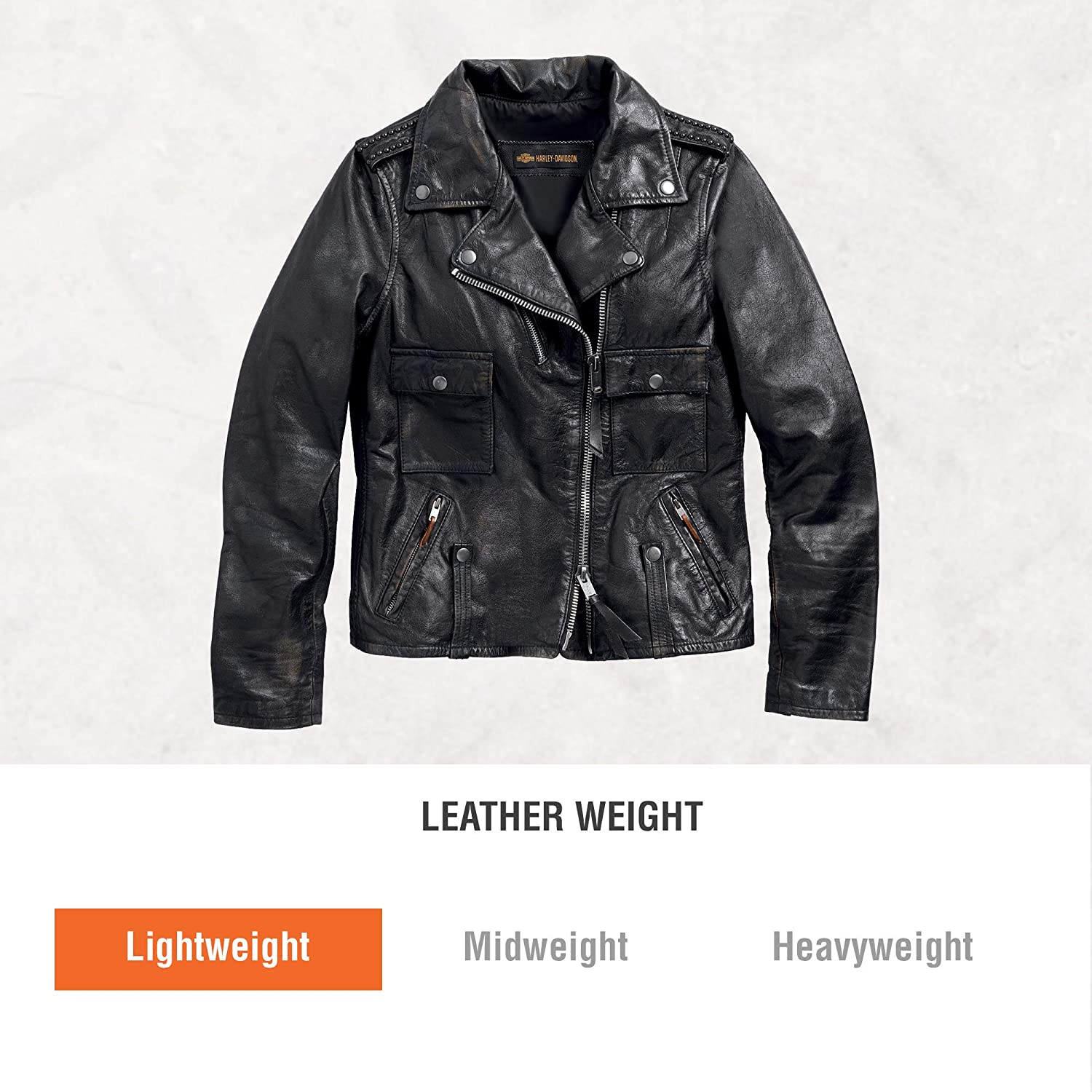 6d42f935bc34 Amazon.com  Harley-Davidson Official Women s Wild Distressed Leather Biker  Jacket