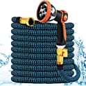 Gee Hut 25ft Expandable Garden Hose with 10 Functional Spray Nozzle