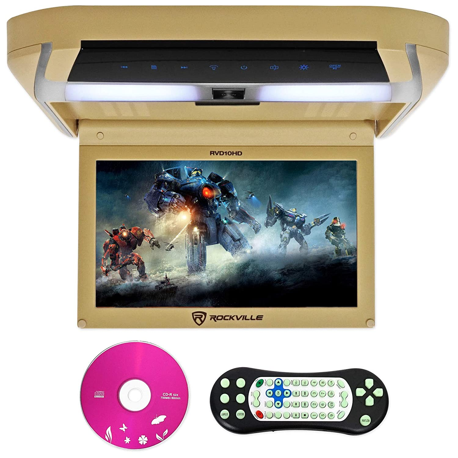 Rockville Rvd10hd Bg 101 Flip Down Monitor Dvd Player Wiring Diagrams Hdmi Usb Games Led Cell Phones Accessories