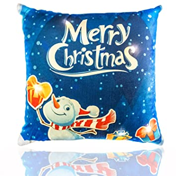 Amazon.com: Merry Christmas Throw almohada – Light Up LED ...