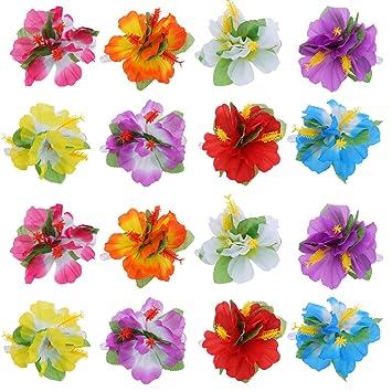 bbto 24 stà ck blumen haarspangen hawaii clip multicolor hawaiian