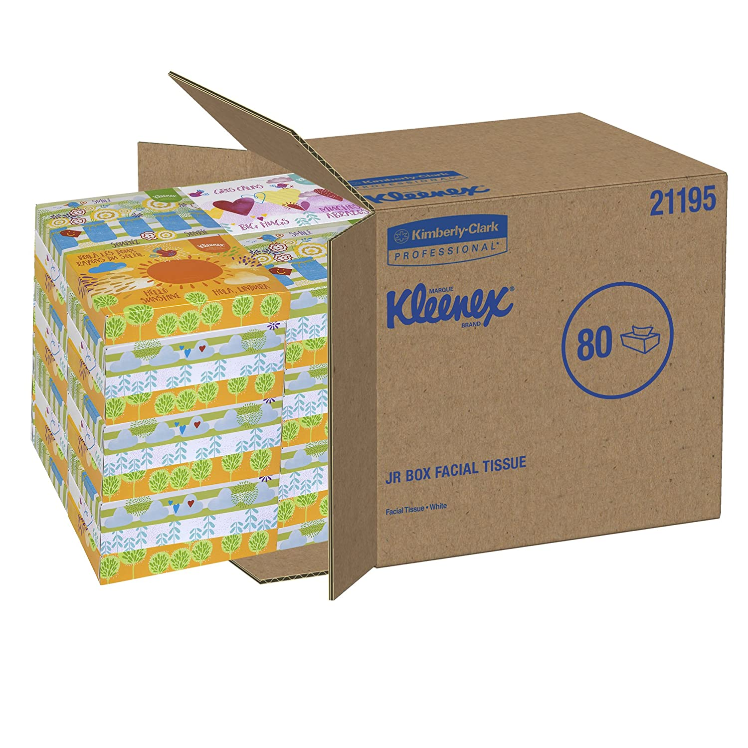 Kleenex Professional Facial Tissue for Business (21195), Flat Tissue Boxes,  80 Junior Boxes / Case, 40 Tissues / Box: Kleenex Professional: Amazon.com:  ...