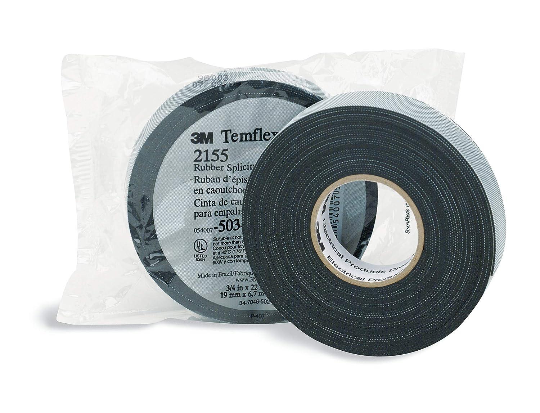 Electrical Tape 3M Temflex 2155 Rubber Splicing 22-ft Vinyl Insulating Black
