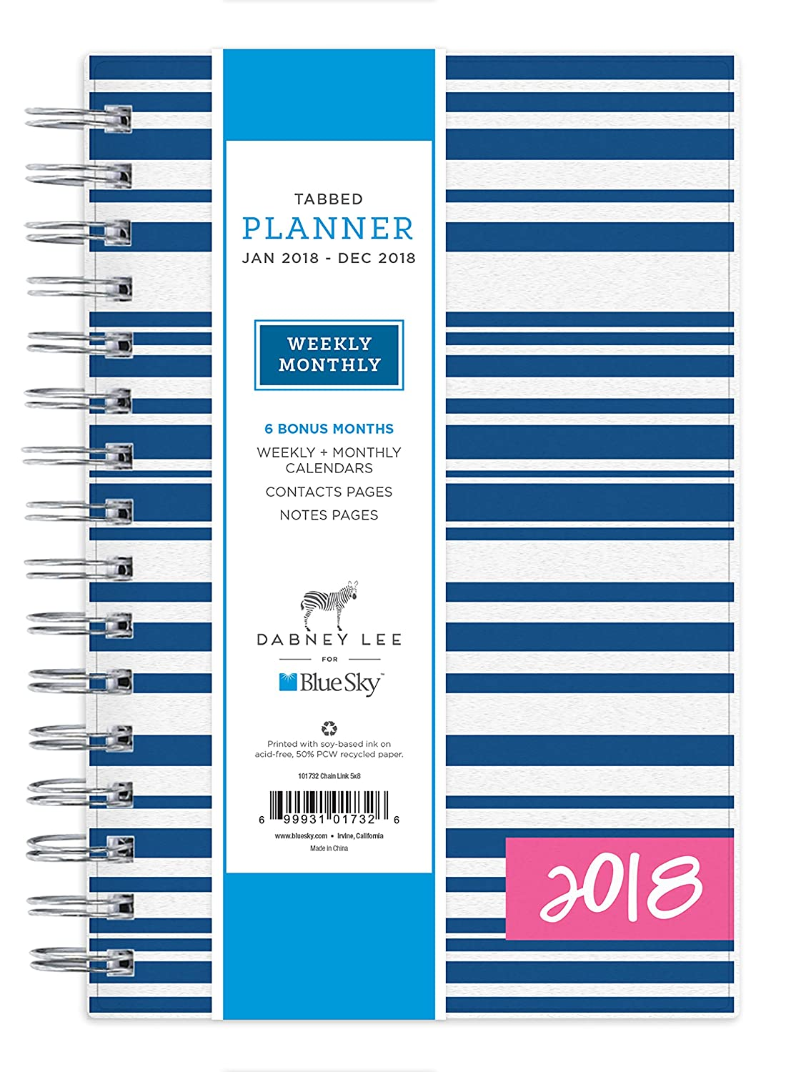 Amazon.com : Dabney Lee for Blue Sky 2018 Weekly & Monthly Planner ...