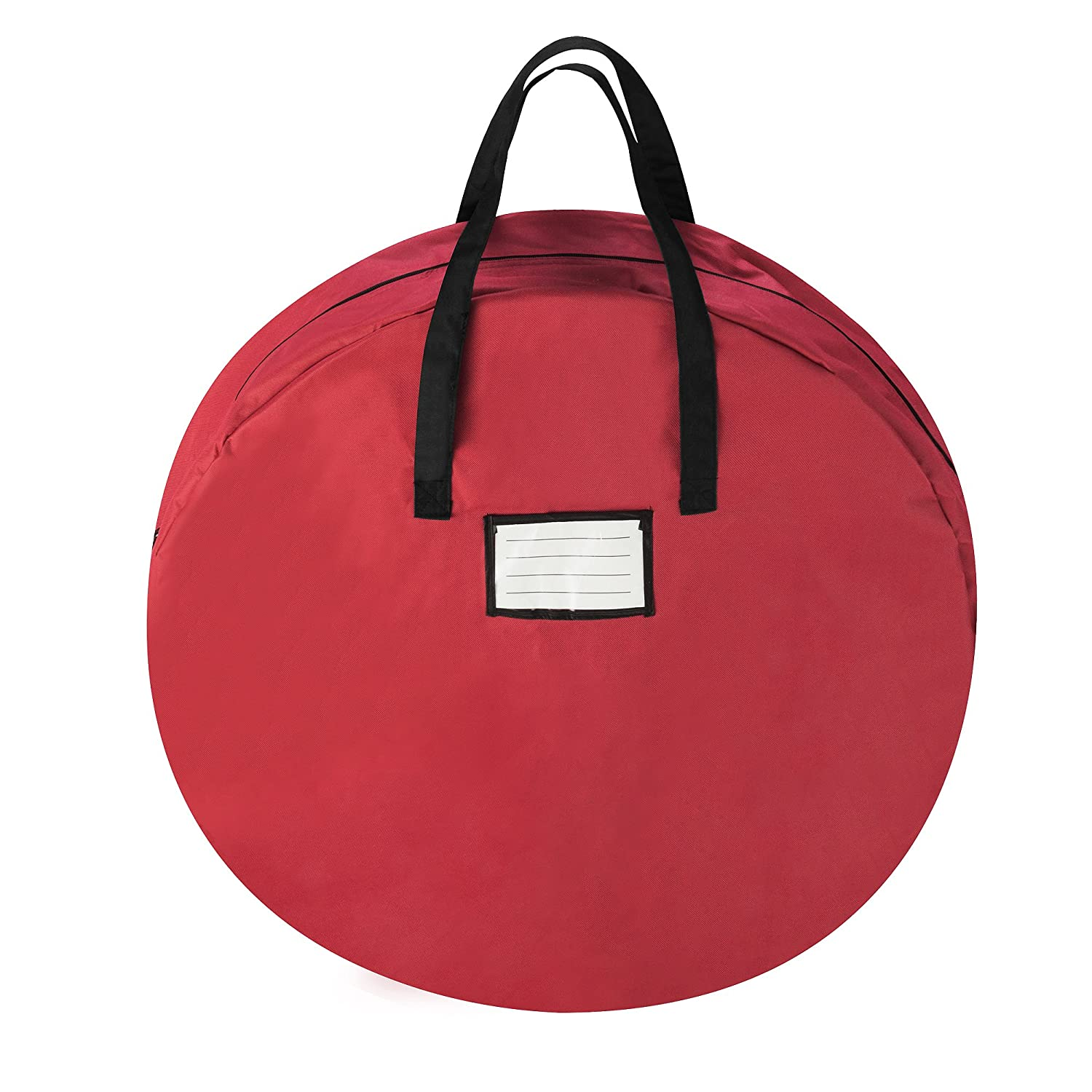Tiny Tim Totes 5704 24 Canvas Red Artificial Wreath Storage Bag, 24 Inch 5704 24 In Wreath Canvas Red