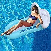 Queta Vattenhängsmatta luftmadrass uppblåsbar flytande vatten säng strandmadrass flytande lounge stol med markis och nät