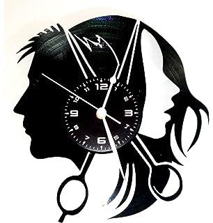 Amazonde Spezial Holz Wand Uhr Friseur Geschenk Schere Lustige