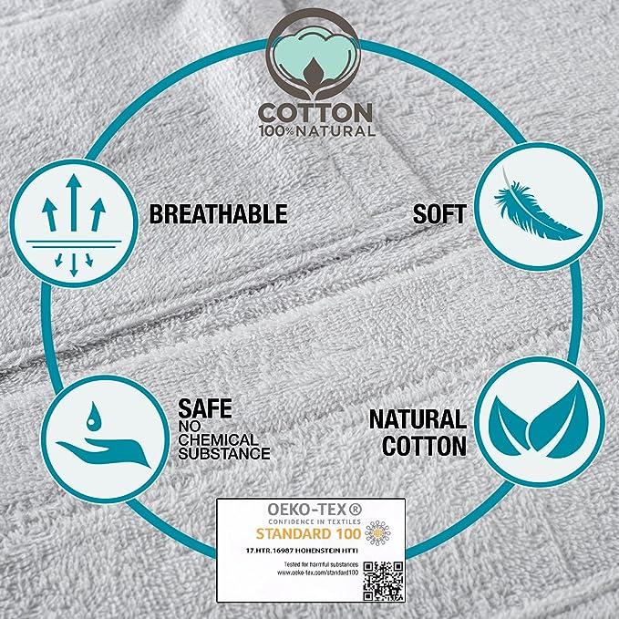 Hood 100/% Turkish Cotton Soft 2 Pockets No Chemicals Bathrobe Men Belt Absorbent
