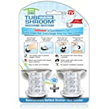 "TubShroom Tub Drain Hair Catcher, 2 Pack, Chrome – Drain Protector and Hair Catcher for Bathroom Drains, Fits 1.5"" – 1.75"" Ba"
