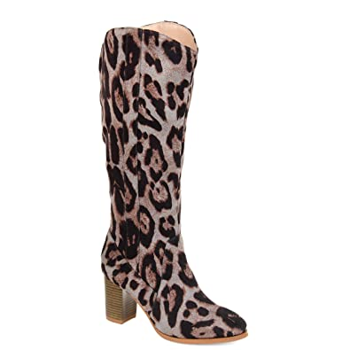 eff5e10956dc4 Image Unavailable. Image not available for. Color: Journee Collection  Comfort Womens Parrish Boot Leopard, 7.5 Extra Wide Calf US