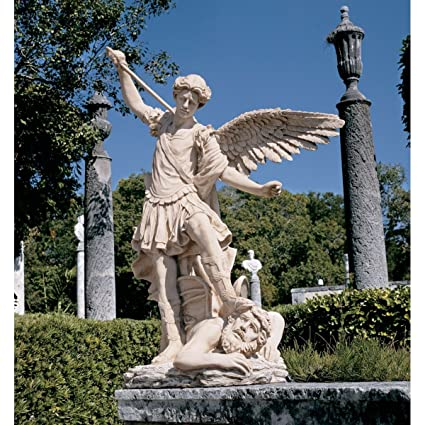 Etonnant Design Toscano St. Michael The Archangel Garden Angel Statue