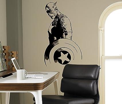 Amazon.com: Captain America Wall Decal Avengers Vinyl Sticker Comics ...