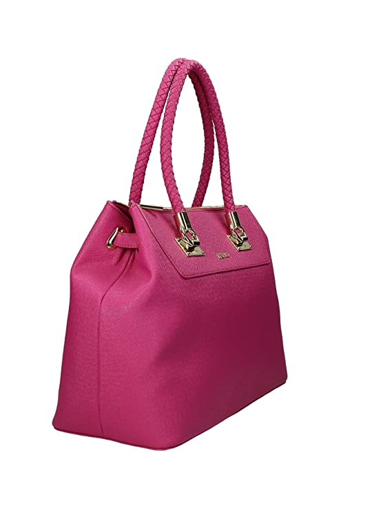 LIU JO ANNA Borsa shopping L in saffiano DARK PINK: Amazon