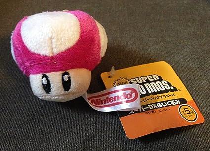 Amazon Com New Super Mario Bros Mini 2 Hot Pink Mushroom Plush