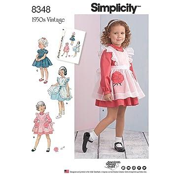 Simplicity Schnittmuster 8348 | Kleinkind \'Kleid & Latzschürze ...