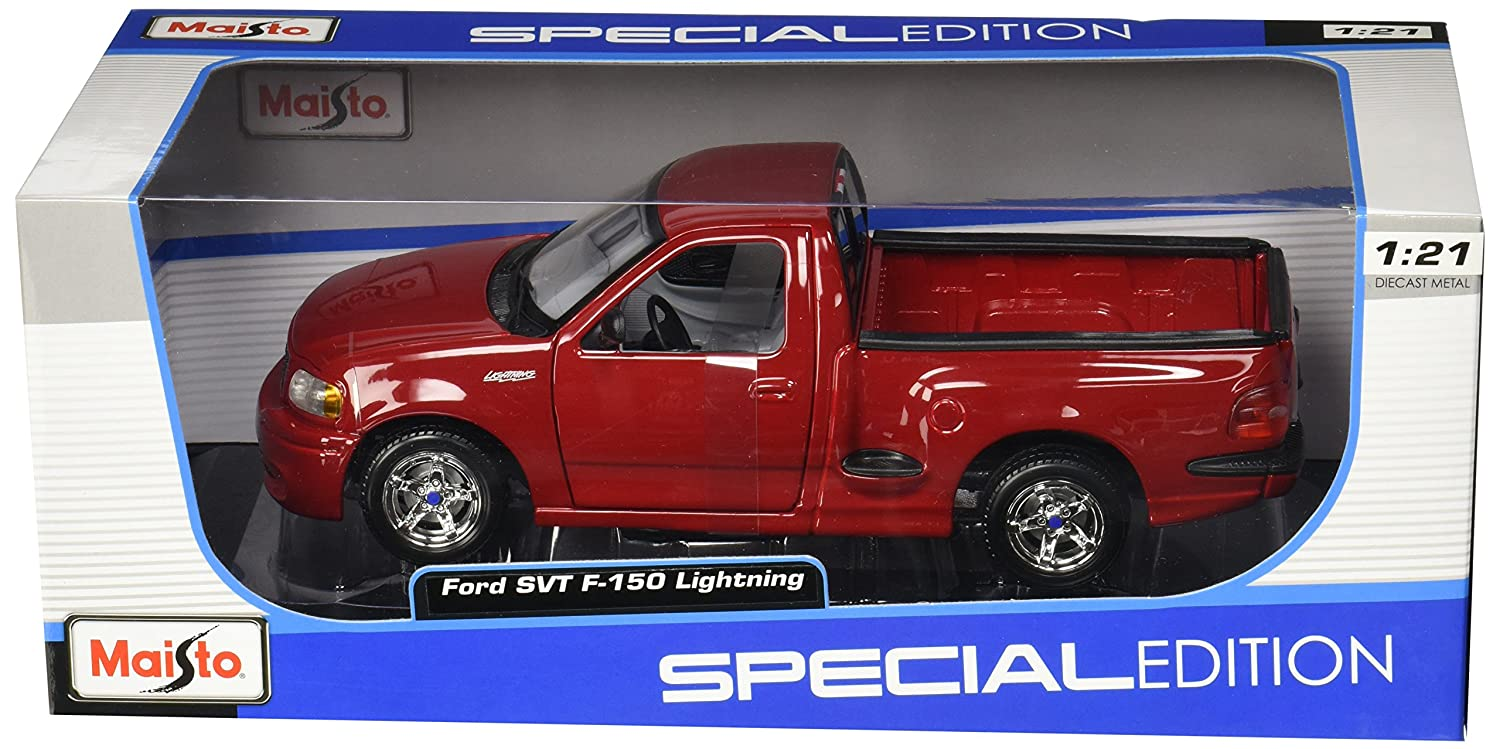 Amazon.com: Maisto 1:21 Scale Ford SVT F 150 Lightning Diecast Truck  Vehicle: Toys U0026 Games