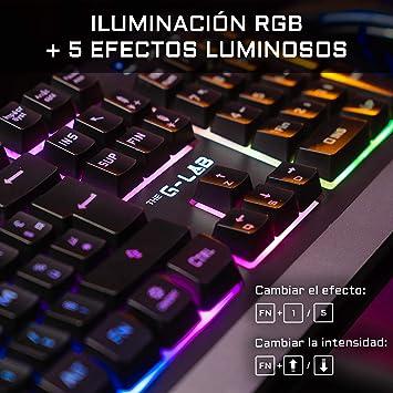THE G-LAB Combo Tungsten – Pack de Teclado y Ratón Gaming Inalámbrico Retroiluminado - Teclado Gaming Inalámbrico Layout Español + Ratón Gaming ...